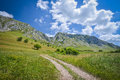 Rocky landscape in Trascau mountains, Romania Royalty Free Stock Photo
