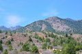Rocky mountain foothills in colorado springs colorado Stock Image
