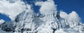 Rocky mountain range Cordillera Blanca Royalty Free Stock Photo