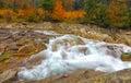 Rocky mountain river in de herfst Royalty-vrije Stock Afbeeldingen