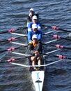 Rocky mountain rowing club ras in de directeuren challenge quad men in het hoofd van charles regatta Stock Afbeeldingen
