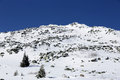 Rocky mountain top in snow Royalty Free Stock Photo