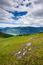 Rocky mountain view in Austria Stock Photo