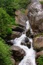 A rocky mountain waterfall. Himachal Pradesh Royalty Free Stock Photo