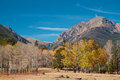 Rocky mountains in fall a scenic landscape the colorado Stock Images