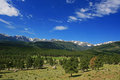 Rocky mountains scenics in colorado us Royalty Free Stock Photos