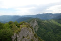 Rocky outcrop by chateau de montsegur france Royalty Free Stock Photography