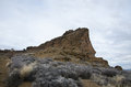 Rocky outcrop a in the desert Stock Photo