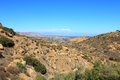 Rocky peak trails running eastward to san fernando valley santa susana mountains ca Stock Image