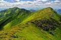 Rocky ridge in Marmaroski alps. Carpathians Royalty Free Stock Photo