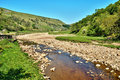 Rocky riverbed of the River Swale Royalty Free Stock Photo