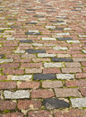Rocky road abstract background of cobble stone Royalty Free Stock Images