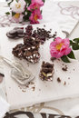 Rocky road sweet chocolate and marshmallow ready to serve Royalty Free Stock Photo