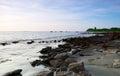 Rocky saint martins island of bangladesh landscape in Stock Image