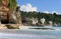 Rocky shore. Dreamland beach. Bali island Royalty Free Stock Photo