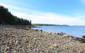 Rocky shore of a maine inlet within ocean Royalty Free Stock Photography