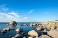 Rocky shoreline of Öland Stock Image