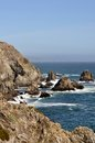 Rocky shoreline near Bodega Bay Stock Photo
