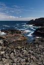 Rocky Shoreline in the Outer Hebrides Stock Image