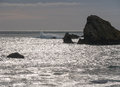 Rocky shoreline, southern Oregon coast Royalty Free Stock Photo