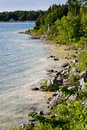 Rocky shores of Georgian Bay Stock Photo