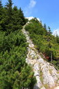 Rocky trail to the Mountain Peak Royalty Free Stock Images