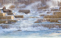 Rocky waterfall Images libres de droits
