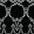 Rococo frame decor pattern
