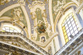 Rococo interior scicli sicily a or late baroque in the th century saint bartholomew church in the town of in italy Royalty Free Stock Images