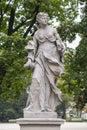 Rococo sculpture in the Saxon Garden, Warsaw, Poland Royalty Free Stock Photo