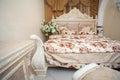 Rococo style bedroom Royalty Free Stock Photo