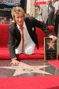 Rod stewart at the ceremony honoring him with a star on the hollywood walk of fame hollywood boulevard hollywood ca Royalty Free Stock Photography