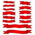 Rode geplaatste banners Stock Afbeeldingen