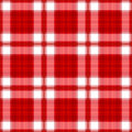 Rode Naadloze Plaid Stock Foto