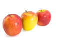 Rode verse appelen op witte achtergrond Royalty-vrije Stock Afbeelding