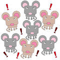 Rodent mob illustration of an angry Stock Photos