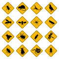 Rodent and pest signs Stock Photo