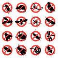 Rodent and pest warning signs Royalty Free Stock Photos
