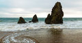 Rodeo beach a picture from is a in the golden gate national recreation area located in marin county california two miles Stock Photo