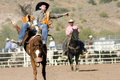 Rodeo Bucking Bronc Rider Royalty Free Stock Photos