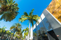 Rodeo Drive on a clear day Royalty Free Stock Photo