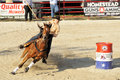 Rodeo Fast Turn Stock Photo