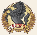 Rodeo label Stock Photo