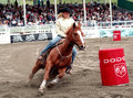 Rodeo: Ladies Barrel Racing Royalty Free Stock Photo