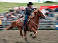 Rodeo: Ladies Barrel Racing Royalty Free Stock Image