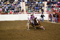 Rodeo Pole Bending Royalty Free Stock Photography