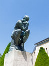 Rodin s thinker the museum paris Royalty Free Stock Photos