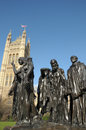 Rodin sculpture burghers of calais westminster london Stock Image