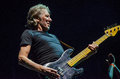 Roger waters bass guitar of pink floyd while touring in during the wall live show Royalty Free Stock Photo