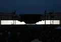 Roger waters the wall brings his live show to bucharest during his world tour just before concert begins Stock Image